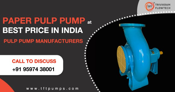 TFTPumps.com is one of the well-established Pumps suppliers in Coimbatore, India with a full range supplying pumps for heating, air conditioning, irrigation, industry, groundwater, boosting and water treatment, Chemical, Paper pulp, M- sand, Agriculture, and other processing Industry.   Call Good Quality Pumps suppliers and ask for Paper Pulp Pump Best Price India. Visit us at: http://tftpumps.com  More Contact Details:  Webstie: http://tftpumps.com  Visit our Products: http://tftpumps.com/products/  Email Us to Discuss: sales@tftpumps.com  Call Now: +91-9597438001
